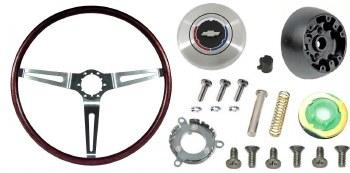 1969 Camaro Rosewood Steering Wheel Kit  Without Tilt Steering