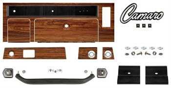 1969  Camaro Rosewood Dash Kit Complete w/Grab Bar & Radio Dash Plates