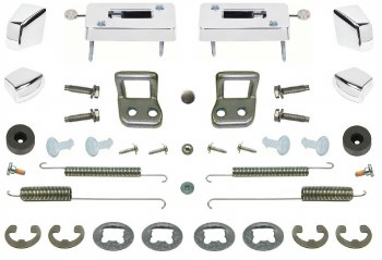 1969 Camaro & Firebird Bucket Seat Restoration Parts Kit w/Escutcheons