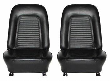 1969 Camaro Standard Interior Bucket Seats Assembled  Black