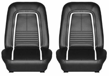 1967 Camaro Deluxe Interior Bucket Seats Assembled  Black