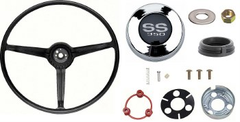 1967 Camaro Standard Steering Wheel Kit With SS350 Horn Cap