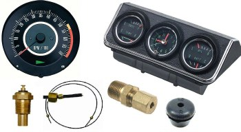 1967 Camaro Dash Tach & Console Gauge Package Kit  w/5.5/7K Tach