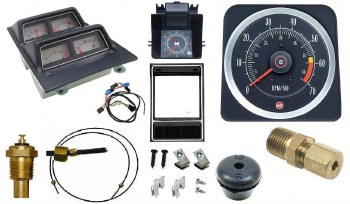 1969 Camaro Dash Tach & Console Gauge Package Kit  w/6/7 Tach