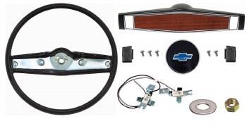 1969 1970 Camaro Deluxe Steering Wheel Kit w/Bowtie Center Cap  Black