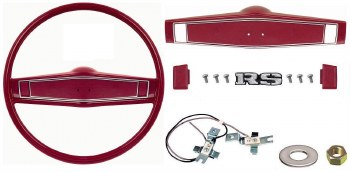 1969 1970 Camaro Deluxe Steering Wheel Kit w/RS Center Cap  Red