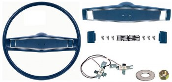 1969 1970 Camaro Deluxe Steering Wheel Kit w/RS Center Cap  Dark Blue