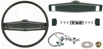 1969 1970 Camaro Deluxe Steering Wheel Kit w/RS Center Cap  Dark Green