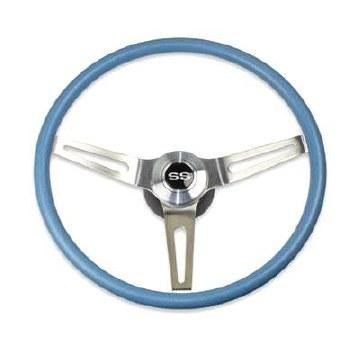 69 70 Camaro Comfortgrip Steering Wheel Kit Light Blue w/SS Horn Cap No Tilt