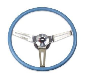 69 70 Camaro Comfortgrip Steering Wheel Kit Light Blue w/Bowtie Horn Cap w/Tilt