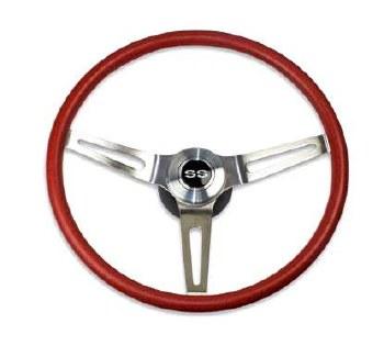 69 70 Camaro Comfortgrip Steering Wheel Kit Red w/SS Horn Cap No Tilt
