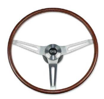 1969-1974 Camaro Rosewood Steering Wheel Kit w/SS Horn Cap No Tilt