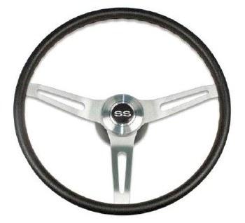 1969-1974 Camaro Comfortgrip Steering Wheel Kit Black w/SS Horn Cap w/Tilt