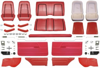 1967 Camaro Coupe Master Deluxe Interior Kit  Red