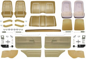 1967 Camaro Coupe Master Deluxe Interior Kit  Gold