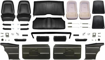 1968 Camaro Coupe Master Deluxe Interior Kit  Black