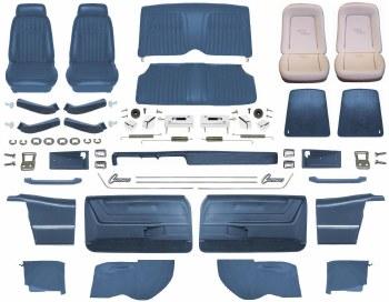 1969 Camaro Convertible Master Deluxe Comfortweave Interior Kit  Dark Blue