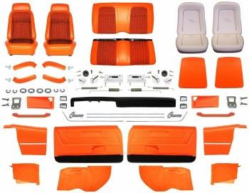 1969 Camaro Convertible Master Deluxe Houndstooth Interior Kit  Orange