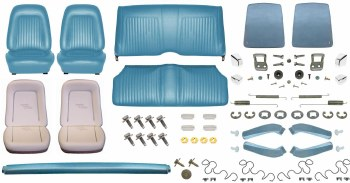 1967 Camaro Convertible Monster Standard Interior Kit  Light Blue