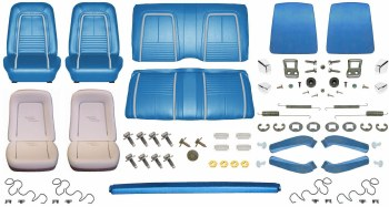 1967 Camaro Coupe Monster Deluxe Interior Kit  Bright Blue