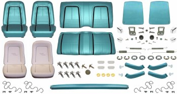 1967 Camaro Coupe Monster Deluxe Interior Kit  Turquoise