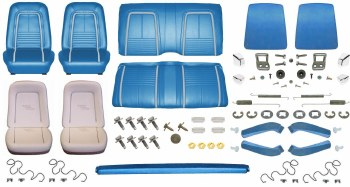 1967 Camaro Convertible Monster Deluxe Interior Kit  Bright Blue