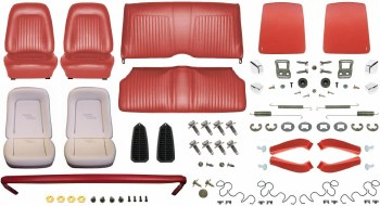 1968 Camaro Convertible Monster Standard Interior Kit  Red