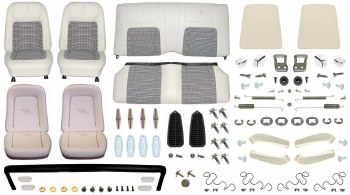 1968 Camaro Coupe Monster Deluxe Houndstooth Interior Kit  White