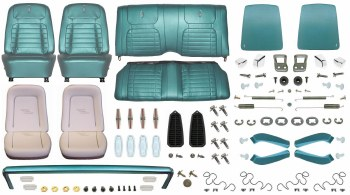 1968 Camaro Coupe Monster Deluxe Interior Kit  Aqua