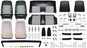 1968 Camaro Convertible Monster Deluxe Houndstooth Interior Kit  Black