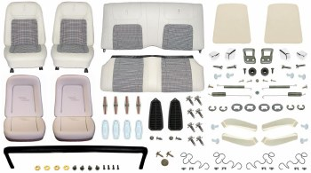 1968 Camaro Convertible Monster Deluxe Houndstooth Interior Kit  White