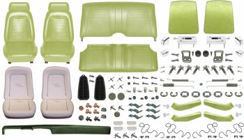 1969 Camaro Coupe Monster Standard Interior Kit  Moss Green