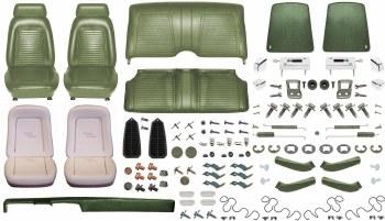 1969 Camaro Convertible Monster Standard Interior Kit  Dark Green