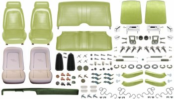 1969 Camaro Convertible Monster Standard Interior Kit  Moss Green