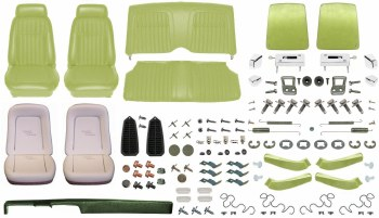 1969 Camaro Coupe Monster Deluxe Comfortweave Interior Kit  Moss Green