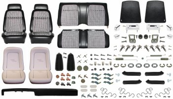1969 Camaro Coupe Monster Deluxe Houndstooth Interior Kit  Black