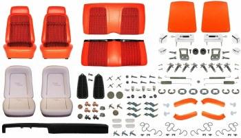 1969 Camaro Coupe Monster Deluxe Houndstooth Interior Kit  Orange
