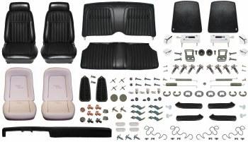 1969 Camaro Convertible Monster Deluxe Comfortweave Interior Kit  Black