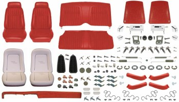 1969 Camaro Convertible Monster Deluxe Comfortweave Interior Kit  Red