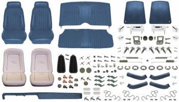 1969 Camaro Convertible Monster Deluxe Comfortweave Interior Kit  Dark Blue