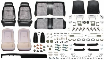 1969 Camaro Convertible Monster Deluxe Houndstooth Interior Kit  Black