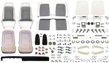 1969 Camaro Convertible Monster Deluxe Houndstooth Interior Kit  White