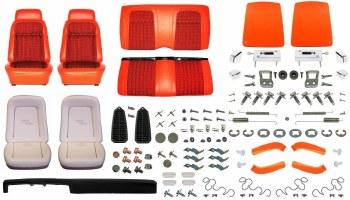 1969 Camaro Convertible Monster Deluxe Houndstooth Interior Kit  Orange