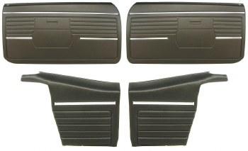 1968 Camaro Convertible Standard Interior Assembled OE Door Panel Kit Black