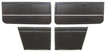 1967 Camaro Convertible Standard Interior Assembled OE Door Panel Kit  Black