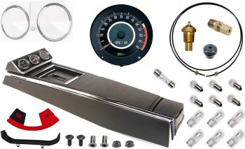 67 Camaro Tach & Console w/Gauges Conversion Kit w/PG 120 MPH 5.5/7K Tach