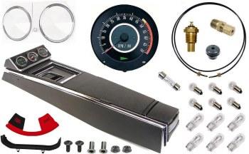 67 Camaro Tach & Console w/Gauges Conversion Kit w/4 Spd 120 MPH 5/7K Tach