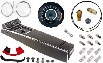 67 Camaro Tach & Console w/Gauges Conversion Kit w/4 Spd 120 MPH 6/7K Tach