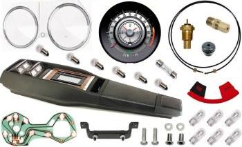 68 Camaro Tach & Console w/Gauges Conversion Kit w/Turbo 120 MPH 6/7K Tach