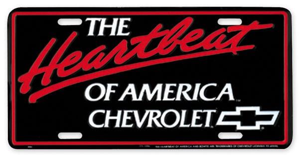 THE HEARTBEAT OF AMERICA CHEVROLET DECAL STICKER  CAMARO CORVETTE CHEVELLE SS